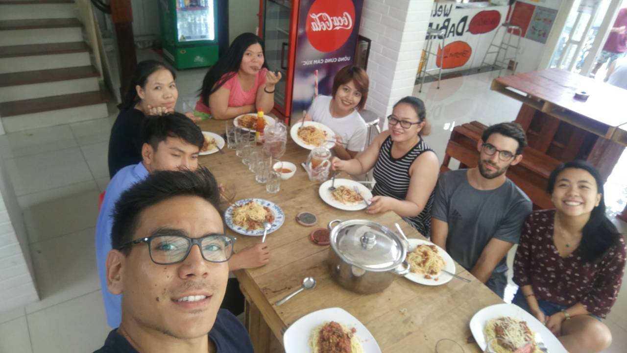 DaBlend Hostel team lunch and meeting